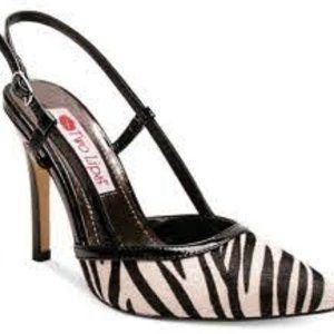 Two Lips Women's Mandy Dress Pump Zebra Print - 9